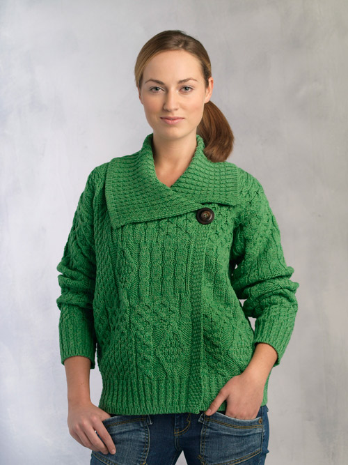 Aran crafts sweater womens ladies for Aran crafts fisherman sweater