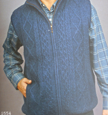 Mens Lined Vest Body Warmer Sweater
