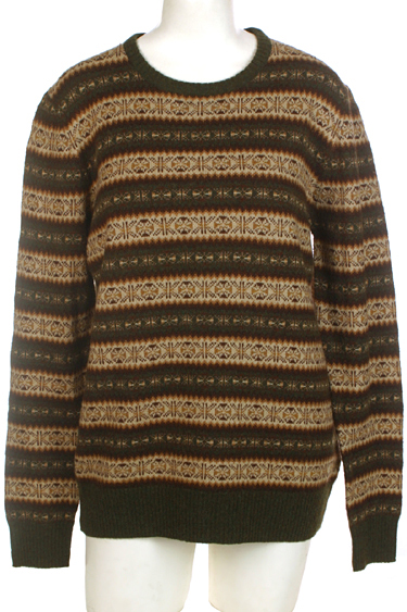 H & M Brown/Tan Fair Isle Sweater