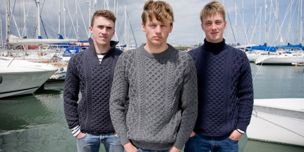 Ireland's Eye Mens Aran Sweater styles