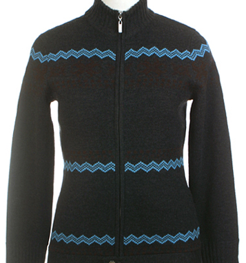 Neve Designs Womens Wool Nordic Zip Cardigan Sweater Neve Sweater