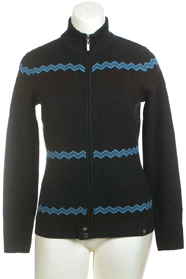 Neve Designs Womens Full Zip Buttoned Cardigan Wool Nordic Sweater Piper