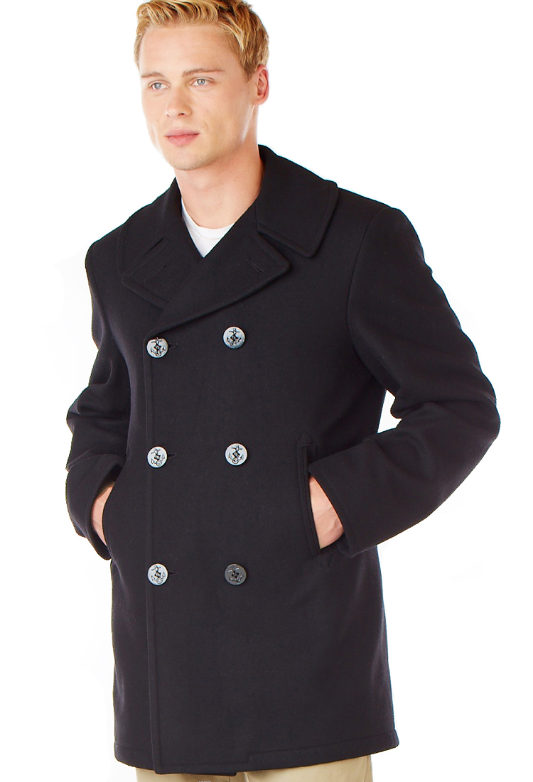 One of our most popular pieces is the Fidelity wool naval pea coat. This jacket is designed with a true military-style cut and has a quilted inner lining. Legendary USA sells leather peacoats and double-breasted mariner-style coats for men and women.