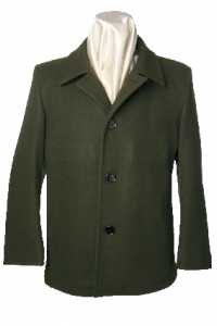 Mens Classic Wool Button Front Buttoned Winter Coat by Sterling Wear