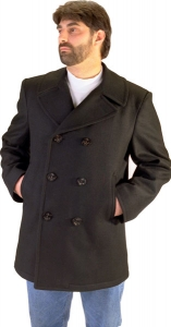 Mens Authentic USN Wool Pea Coat by Sterling Wear