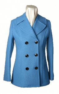 Women's Double Breasted coat with Princess Seams by Sterlingwear Of Boston