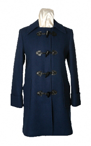 Womens Single Breasted Long Coat Toggle Buttons by Sterlingwear Of Boston