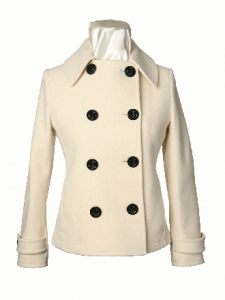 Women's Short Double Breasted Coat Military Inspired by Sterling Wear