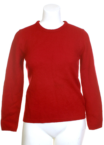 Red Wool Sweater Medium