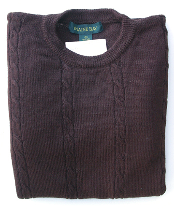 Thrift Shop Sweater Second Hand Maine Bay Mens Medium Wool