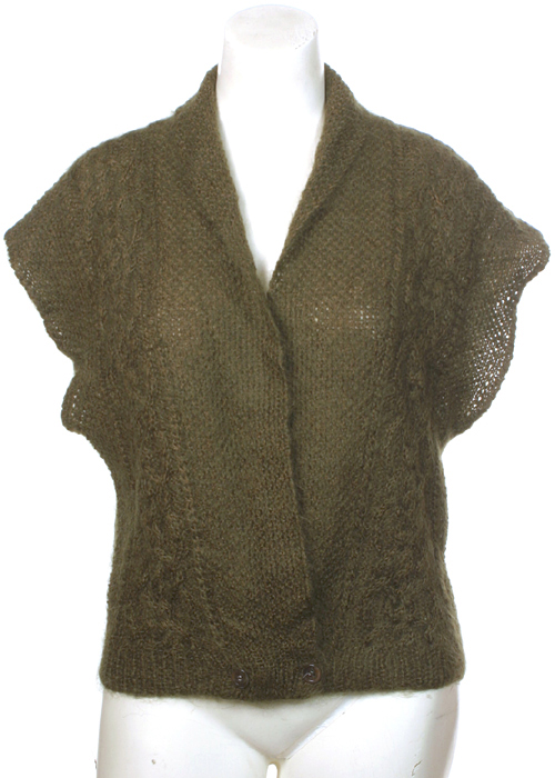 Ellen Tracy Shawl Vest sweater Womens M