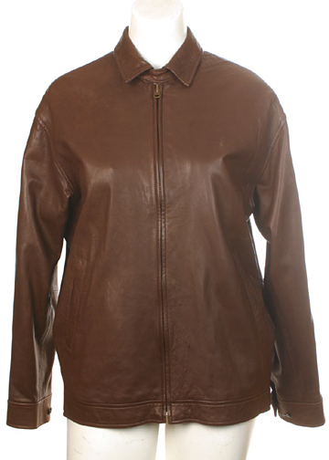 Polo Ralph Lauren Mens Leather Jacket Small