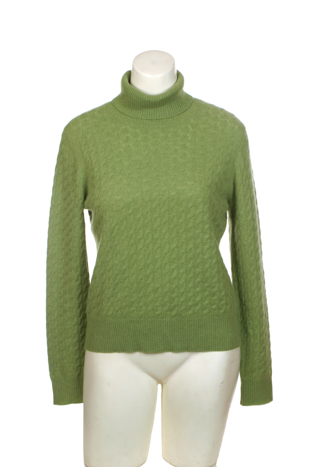 Thrift Shop Sweater Second Hand Womens Geneva Green Cashmere XL Sweater