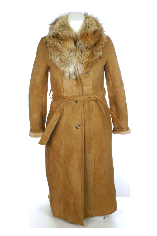 Fur Collar Shearling Coat Size 9-10