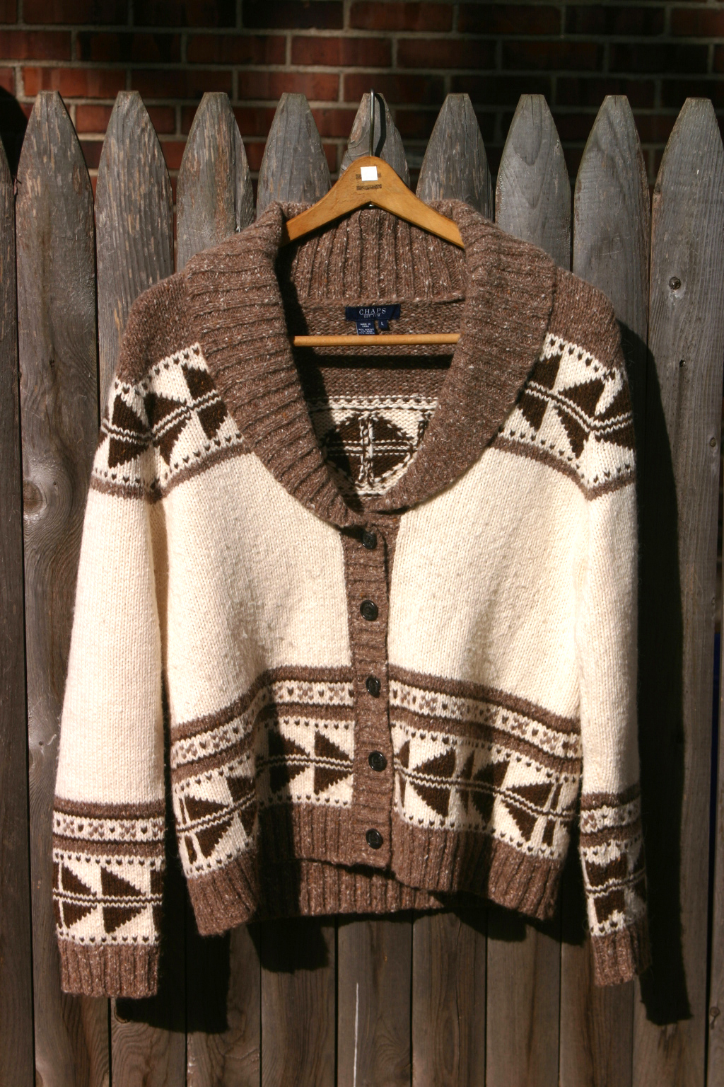Thrift Shop Sweater Second Hand Ladies Chaps Lg Cardigan Cowichan Ralph Lauren Polo