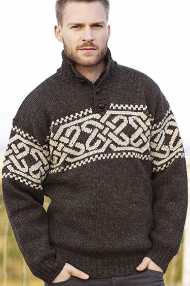 Irish Traditional Aran Sweater